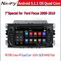 NEW Android car radio 2 din with Android 5.1 Quad Core RK3188 HD 1024*600 Capacitive Touch Screen for FORD F/o/c/u/s (2008-2010)