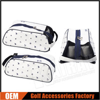 Custom Leather Golf Shoes Bags,Unique Marin Pattern Mesh Shoes Bags