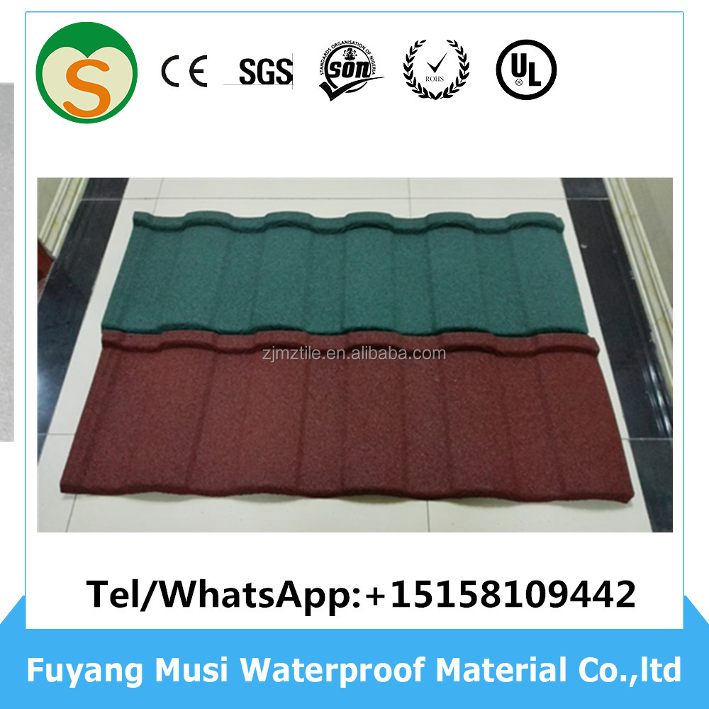 Hot Sale Stone chips coated steel roof sheet&stone coated metal roofing tiles