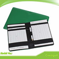 Green Genuie Leather Golf Score Card Holder With Wooden Pencil Eraser