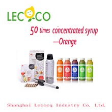 New product promotion for 50 Times organic Orange fruit juice HIGH concentrate