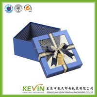 color range see through paper jewellery box with clear pvc window for