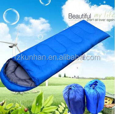 Adult Portable Wholesale cheaper cotton Envelope goose down sleeping bag
