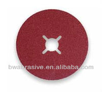 Resin bond fiber abrasive disc