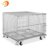 foldable and stackable metal storage cage direct sale