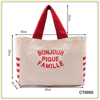 Fashion Large Reusable Organic Cotton Bag Tote Bag Canvas