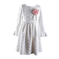 white angel winter flower girls baby frock dress designs with long sleeve