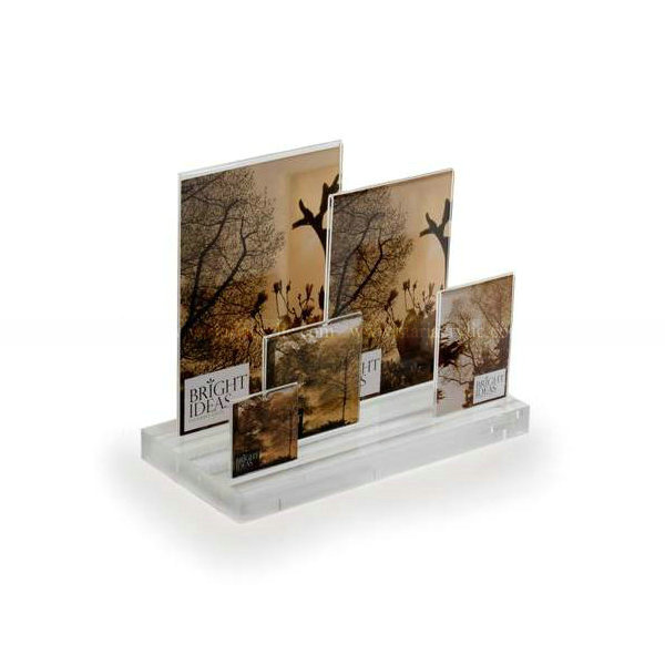 Clear Acrylic Multi Photo Picture Frame, Desktop Multi Frame