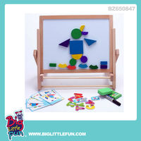 Multi-function wooden educational toy magnetic drawing board toy