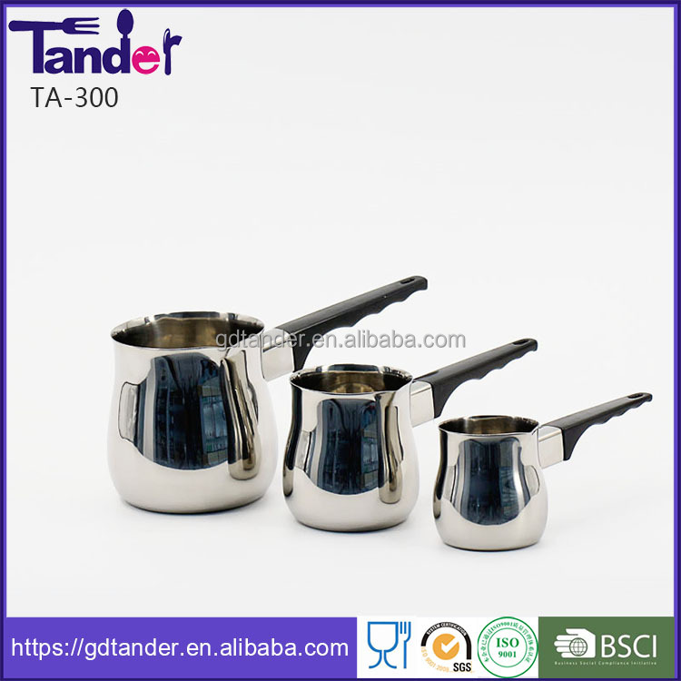 Stainless steel milk pot jug with bakelite handle