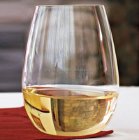 stemless wine glass cup 440ml