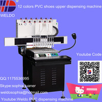 WD800*360 12 colors PVC shoe upper automatic making machine