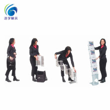 China low price rolling acrylic flyer holders