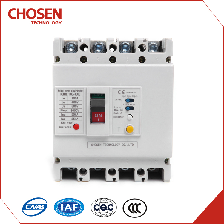 400V 125amp 100amp 80amp electrical leakage circuit breaker,earth leakage protection