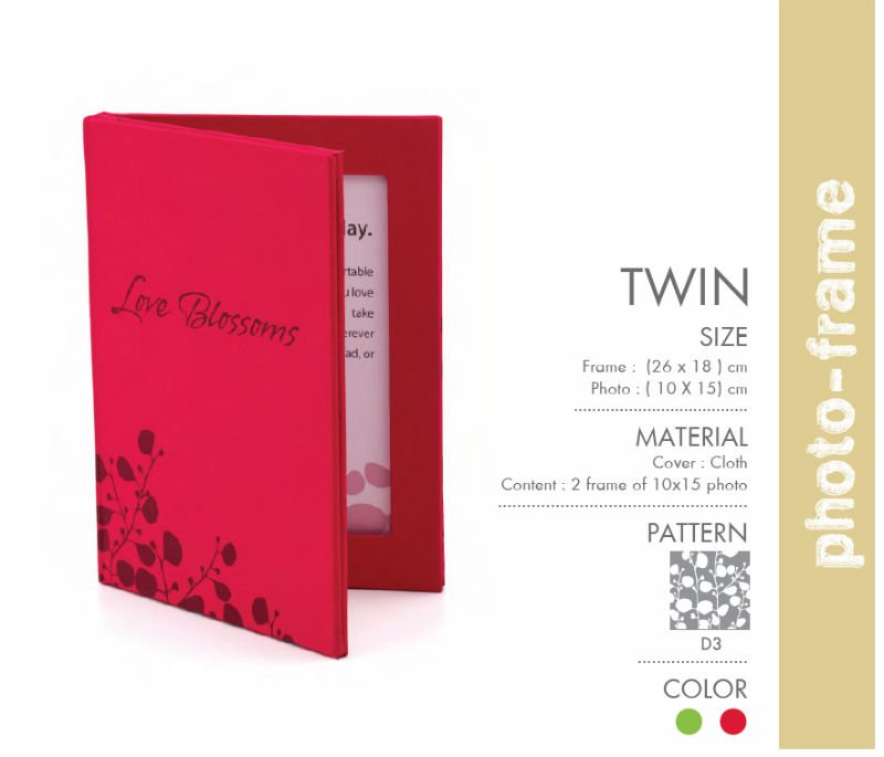 Cloth Cover Twin Photo Frame