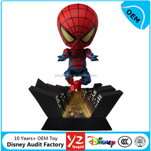 Custom Spider Man Big Head Action Figure Plastic Miniature Human Figure Model OEM Manufactuer
