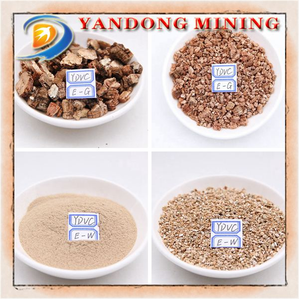 Silver/Golden expanded vermiculite for industry applications