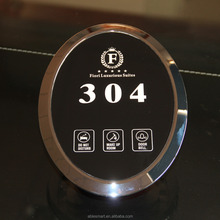 Hotel electronic doorplate, Touch doorbell system, Room number glass panel