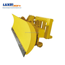 Front mounted Loader Sno-Pusher for snow removal