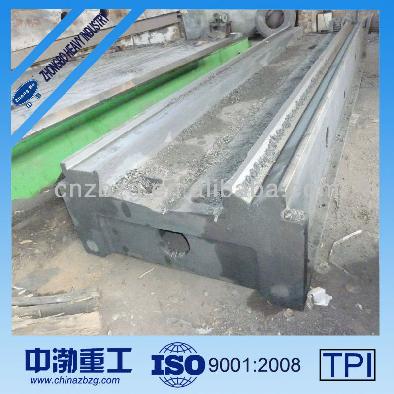High Quality Heavy Casting/Iron Grey HT250 Iron Lathe Bed