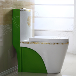 2115G-1 Washdown Green Colored Toilets