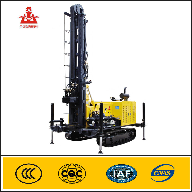 KW30 300m deep hole portable hydraulic water well auger crawler drilling rig
