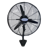 "Full metal strong wind 20"" 26"" 30"" industrial wall fan with strong wall mount kit"