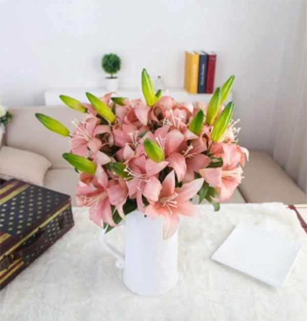 the newest style high quality colorful flower artificial silk lily