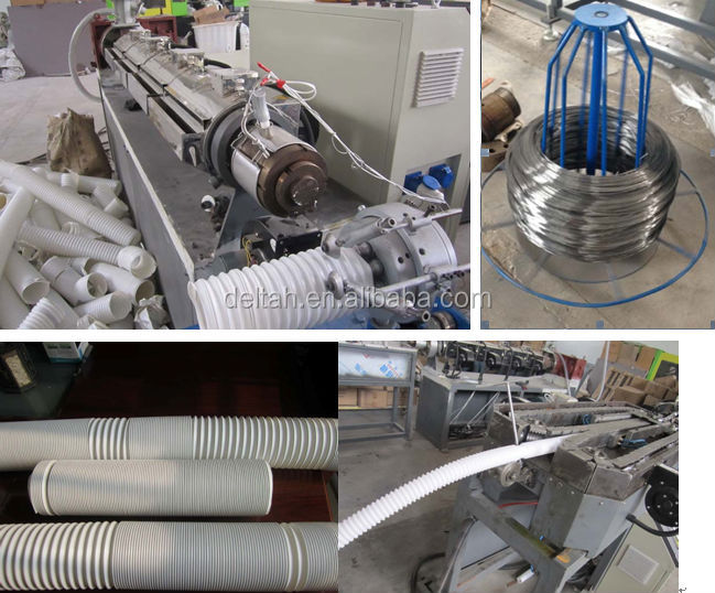 plastic shrinkable siphon hose extrusion line toilet wash room water drain hose pipe making machine