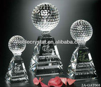 Noble Crystal Pyramid Golf Award Trophy