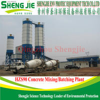best selling HZS90 ready mix concrete plant