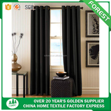 100%polyester Factory hot sale mat blackout fabric curtain with metal ring