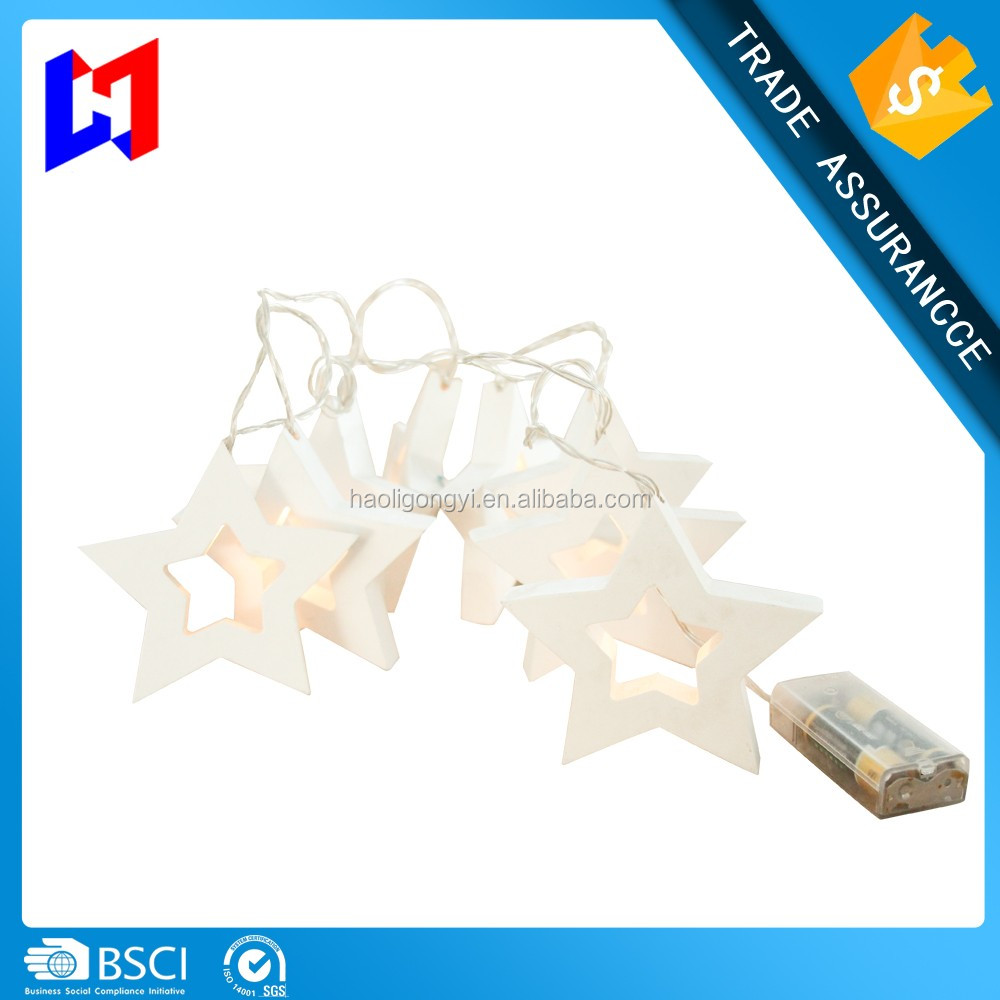 Star shape decorative led string lights with copper lights