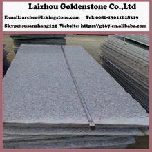 Hot sale leather finish steel grey granite slab