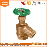 "GUTENTOP-LB 1"" FIP Hose Brass Bent Nose Garden Valve (125 psi) IN STOCK"