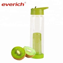 BPA Free Custom Portable Fruit Infuser Colorful Water Bottle