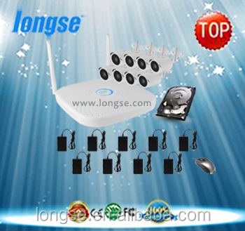 longse 8CH WIFI NVR & WIFI IP Camera Kit ONVIF with No Obstacles 200m max wifi range WIFI2008PG1S100