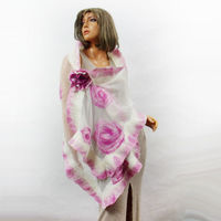 Nuno felt designer. Unique design. Artistic clothing and scarves, shawl. Felt Felting