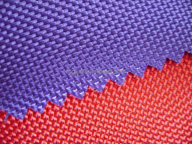 bag fabric, polyester 1680D double fabric coated with PVC, PU ULY optional