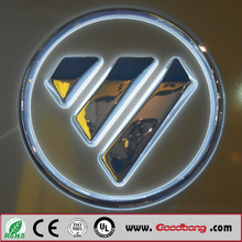 chrome abs emblem acrylic car logo with names for advertising
