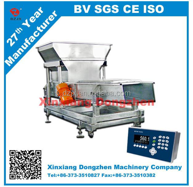 Chinese hot E- scale vibrating conveyor for food processing