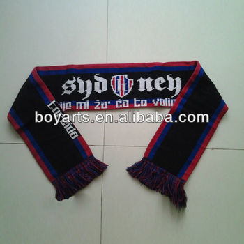 Custom knitted team scarf