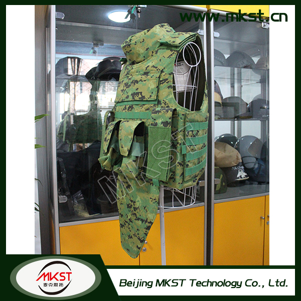 MKST648 Series Full Protection Chest Safety Tactical Body Armor , Proof Of Body , Iiia Body Armor
