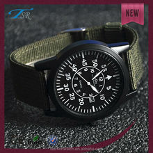 New arrival watches japan quartz movement nylon bands strap vogue men military western man wrist watch