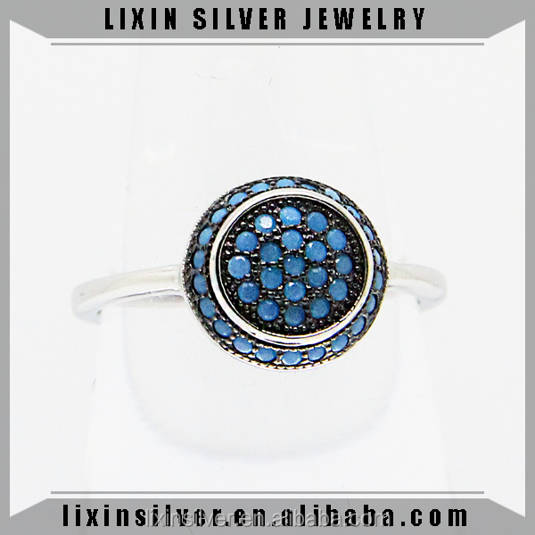 LIXIN s925 sterling silver fashion jewelry blue turquoise rings (JY613-16)