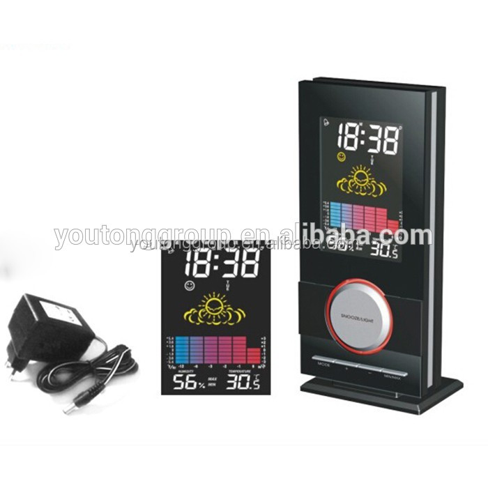 clock themes LCD clock with alarm clock