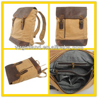 New Vintage Drawing Mini Washed Cotton Canvas Backpack Bag Day Backpack