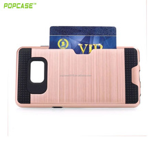 New style plug-in card PC+TPU phone case,very funtion shell order now low price phone accessories for Samsung Note6
