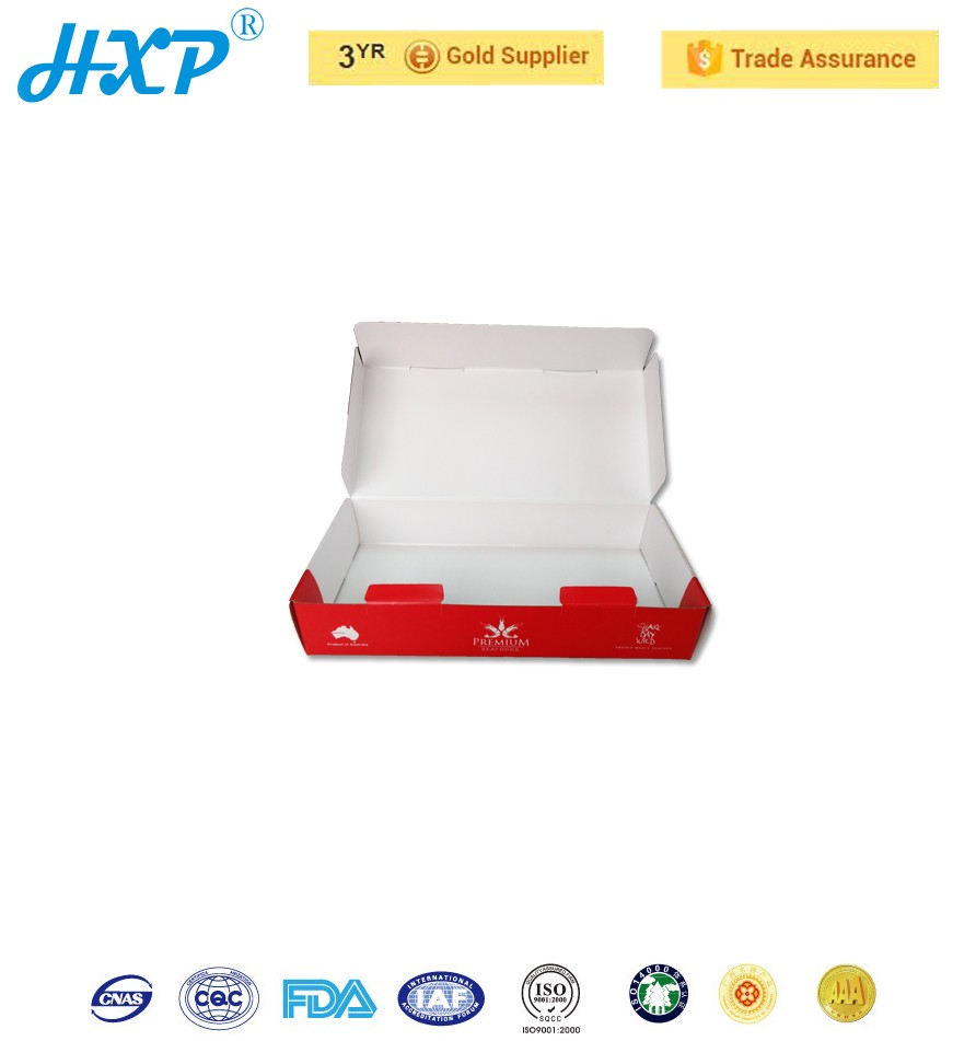 White board box recycled custom disposable food packaging box