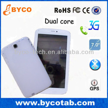 New Arrival 7 inch HD mtk 6572 dual core gps 3g tablet